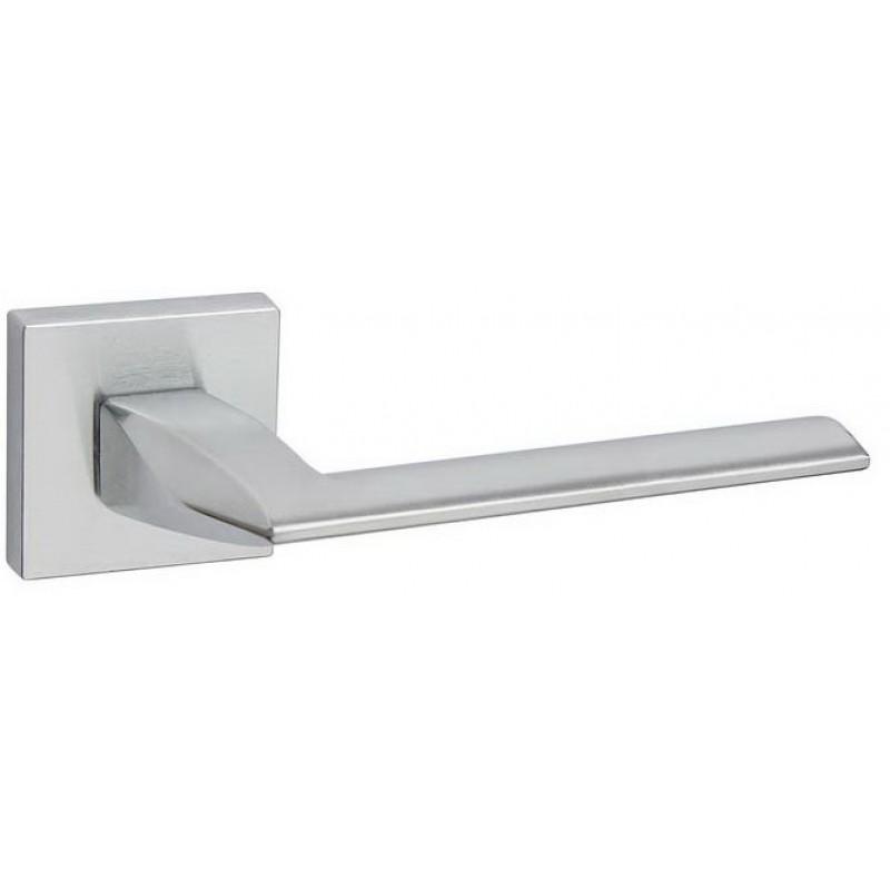 Дверная ручка FIMET на квадратной розетке 1352/204 PURA хром матовый F05