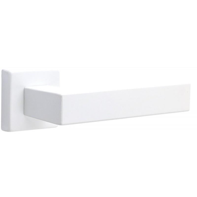 Дверная ручка FIMET на квадратной розетке 1317/215 KUBO белый BO