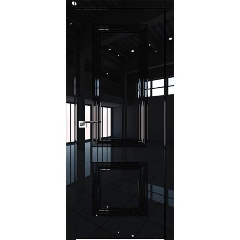 Дверь 82LK Черный люкс Профиль Дорс