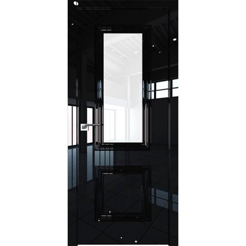 Дверь 83LK Черный люкс Профиль Дорс