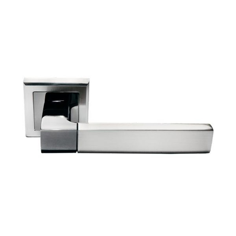 Дверная ручка Morelli DIY MH-28 SN/BN-S Никель белый/Черный никель