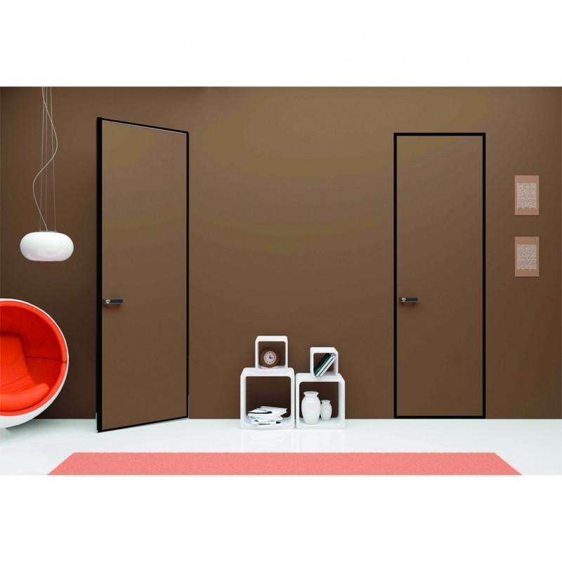Дверь под покраску кромка чёрная с коробкой Invisible Black Edition