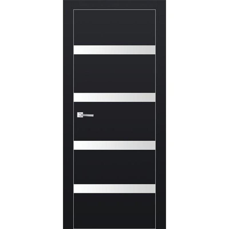 Дверь 26Е Черный матовый Профиль Дорс