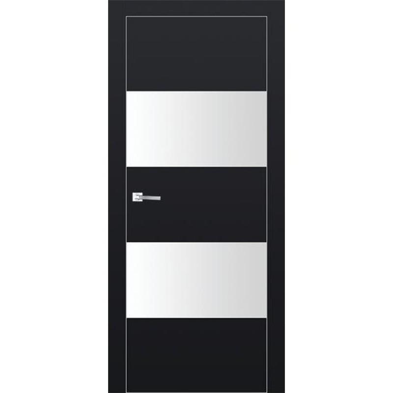 Дверь 10Е Черный матовый Профиль Дорс