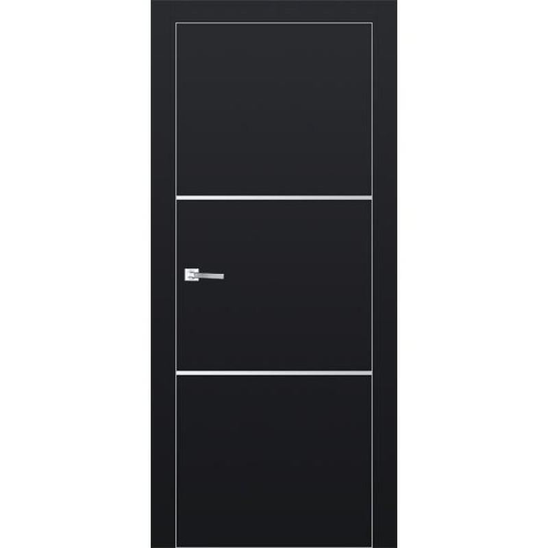 Дверь 2Е Черный матовый Профиль Дорс