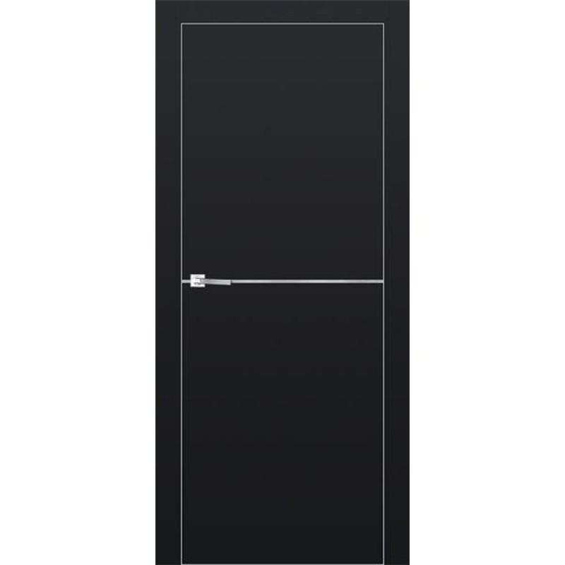 Дверь 12Е Черный матовый Профиль Дорс