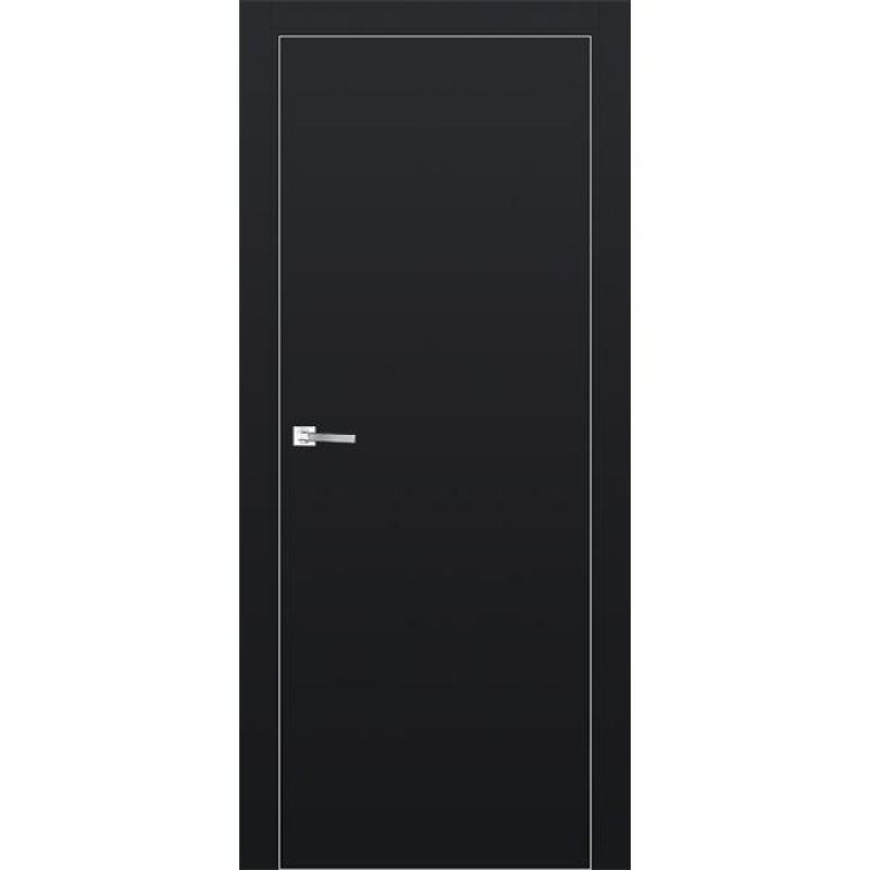Дверь 1Е Черный матовый Профиль Дорс