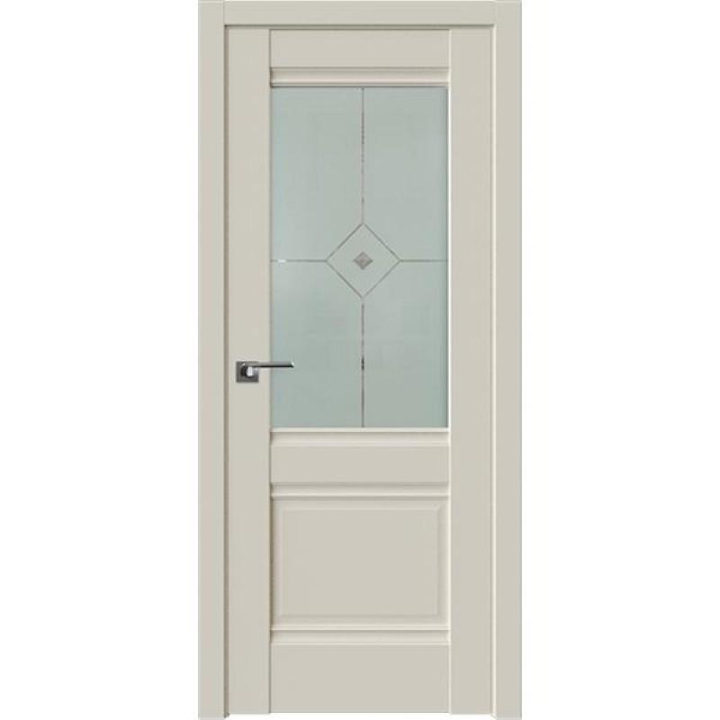 Дверь 2U Магнолия сатинат Профиль Дорс