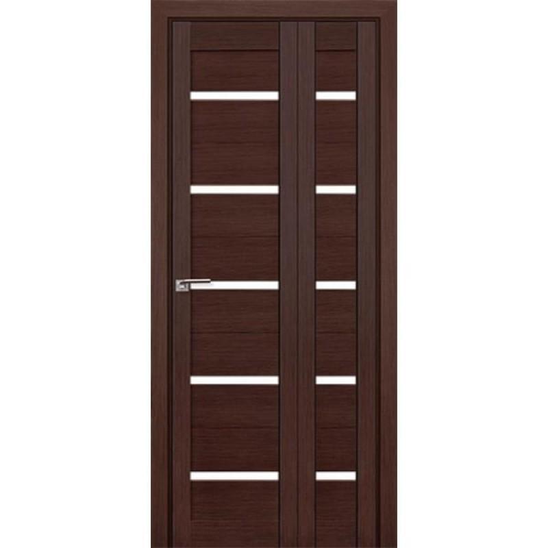 Складная межкомнатная Дверь-Книжка 7Х Венге мелинга
