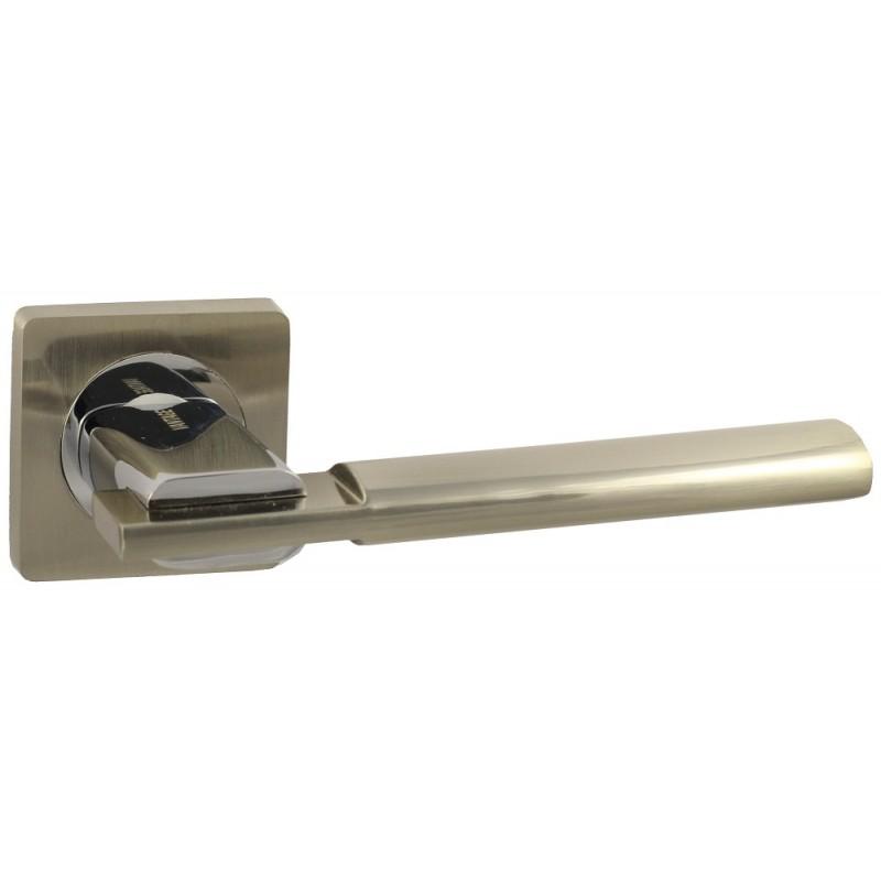 Дверная ручка Vantage V03 на квадратной розетке SN матовый никель