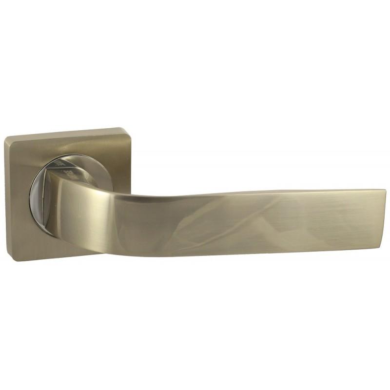 Дверная ручка Vantage V01 на квадратной розетке SN матовый никель